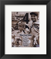 Framed Lou Gehrig - Legends of the Game Composite