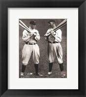 Framed Ty Cobb and Shoeless Joe Jackson