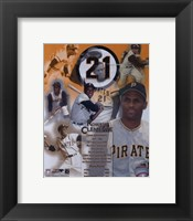Framed Roberto Clemente - Legends of the Game Composite