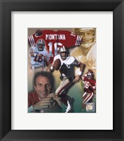 Framed Joe Montana - Legends of the Game Composite