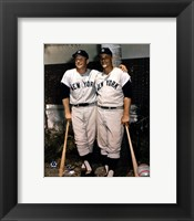 Framed Mickey Mantle and Roger Maris- Palm Trees
