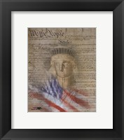 Framed Flag/Constitution Collage