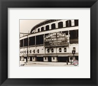 Framed Wrigley Field - Outside/Sepia
