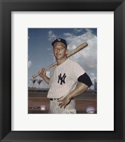 Framed Mickey Mantle - #6 Posed with Bat