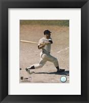 Framed Mickey Mantle - #5 Batting