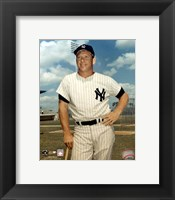 Framed Mickey Mantle - #1 Leaning on Bat