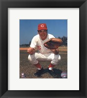 Framed Johnny Bench - Posed Catching