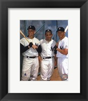 Framed Roger Maris, Yogi Berra, and Mickey Mantle