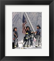 Framed New York Firefighters / Ground Zero