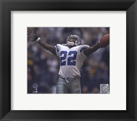 Framed Emmitt Smith - All-Time Rushing Yard Leader - #2 Celebration