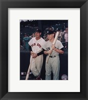 Framed Ted Williams / Mickey Mantle
