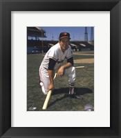 Framed Brooks Robinson - Posed kneeling with bat