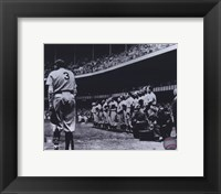 Framed Babe Ruth - Farewell