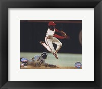 Framed Ozzie Smith - Turning double play