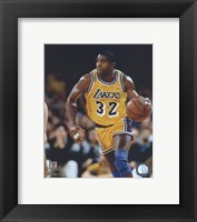 Framed Magic Johnson - Ball in left hand