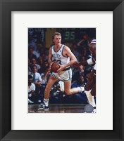 Framed Larry Bird - Ball in both hands