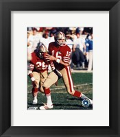 Framed Joe Montana - #12 Old school