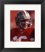 Framed Joe Montana - #19 Close up