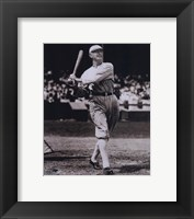 Framed Shoeless Joe Jackson - Batting, sepia