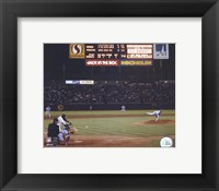 Framed Nolan Ryan - 6th No Hitter (Last Pitch)