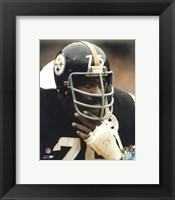 Framed Joe Greene - Close up on sidelines