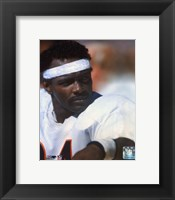 Framed Walter Payton - On Sidelines