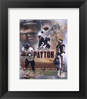 """Framed Walter Payton """"Legends"""" Composite"""