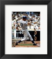 Framed Ron Santo - Batting action