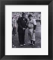 Framed Babe Ruth/Yogi Berra