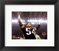 Framed Tedy Bruschi - Super Bowl XXXVIII Celebration