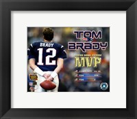 Framed Tom Brady - Supert Bowl XXXVIII MVP