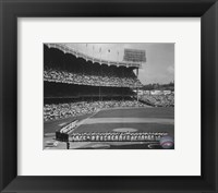 Framed Yankee Stadium Left Field - 1955 World Series Opening Game