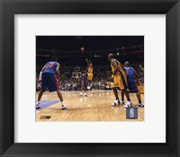 Framed Kobe Bryant - '04 Finals 3 point shot/ front view
