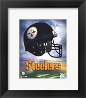 Framed Pittsburgh Steelers Helmet Logo