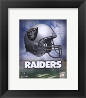 Framed Oakland Raiders Helmet Logo