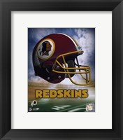 Framed Washington Redskins Helmet Logo