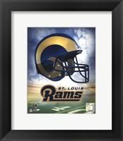 Framed St. Louis Rams Helmet Logo