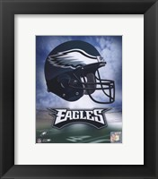 Framed Philadelphia Eagles Helmet Logo