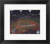 Framed 2004 World Series Opening Game National Anthem at Fenway Park, Boston