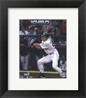 Framed Ichiro Suzuki - All Time Single Season Hits Leader at 262 Hits