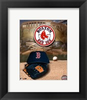 Framed Red Sox - '04 Logo & Cap