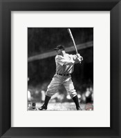 Framed Lou Gehrig - Batting Action