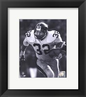 Framed Franco Harris - Rushing With Ball (B&W)