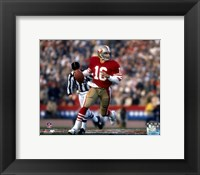 Framed Joe Montana - #20