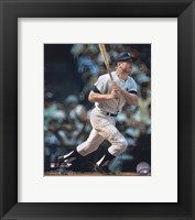 Framed Mickey Mantle - Batting