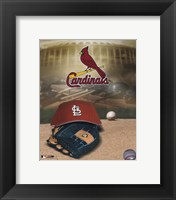Framed Cardinals - '04 Logo / Cap