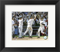Framed Derek Jeter - 2005 Opening Day Game Winning  Home Run