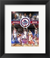 Framed 2005 Pistons - Eastern Conference Championship Composite