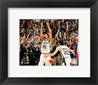 Framed Tim Duncan 2005 -  NBA Championship Celebration (#4)