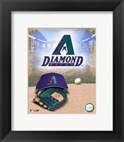 Framed Arizona Diamondbacks - '05 Logo / Cap and Glove